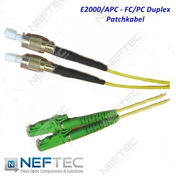 E2000 APC - FC PC Duplex Patchkabel Singlemode