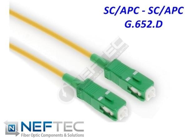 SC APC - SC APC Simplex Patchkabel Singlemode