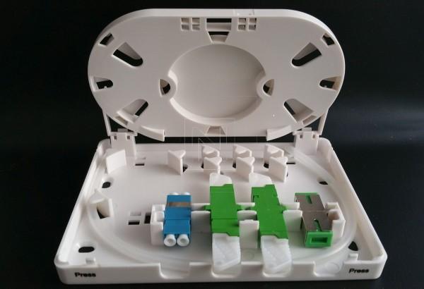 FTTH Connection Box für 4 Adapter
