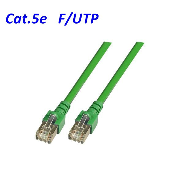 Cat.5 Patchkabel F-UTP grün
