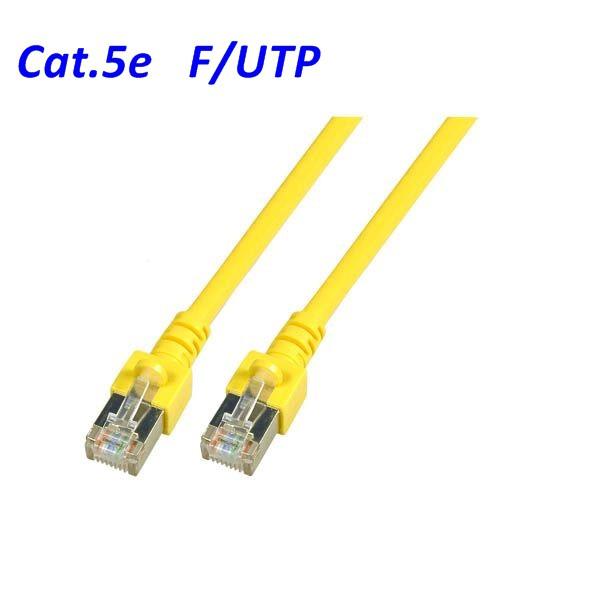 Cat.5 Patchkabel F-UTP gelb