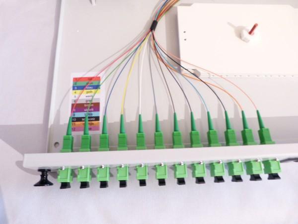 LWL Spleißbox SC APC Simplex komplett