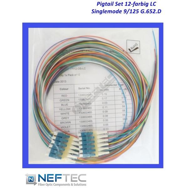 LC Pigtail Satz 12-farbig Singlemode