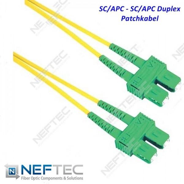 SC APC - SC APC Duplex Patchkabel Singlemode