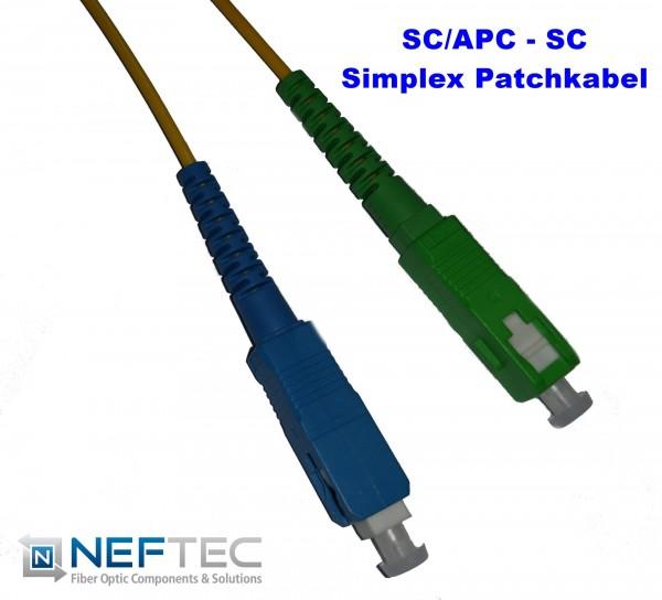 SC APC - SC Simplex Patchkabel Singlemode