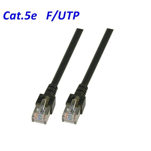 Cat.5 Patchkabel F-UTP schwarz