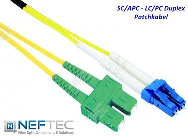 SC APC - LC Duplex Patchkabel Singlemode