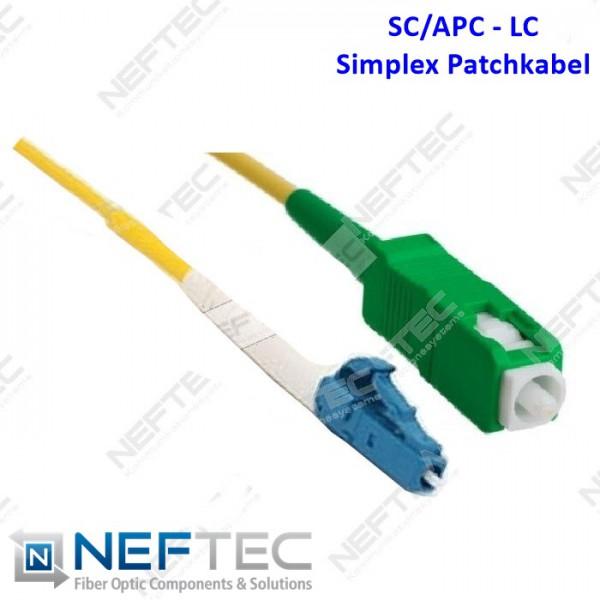 SC APC - LC Simplex Patchkabel Singlemode