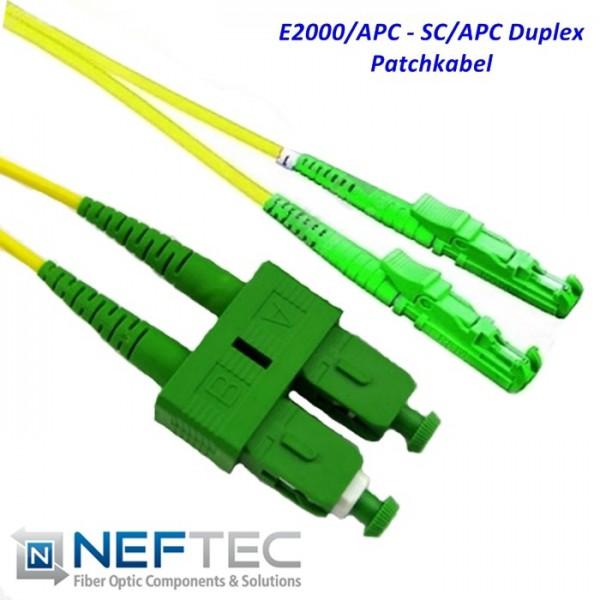 E2000 APC - SC APC Duplex Patchkabel Singlemode