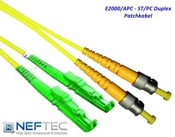 E2000 APC - ST Duplex Patchkabel Singlemode