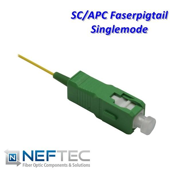 SC APC Pigtail Singlemode biegeoptimiert G657A