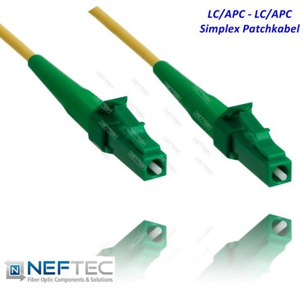 LC APC - LC APC Simplex Patchkabel Singlemode