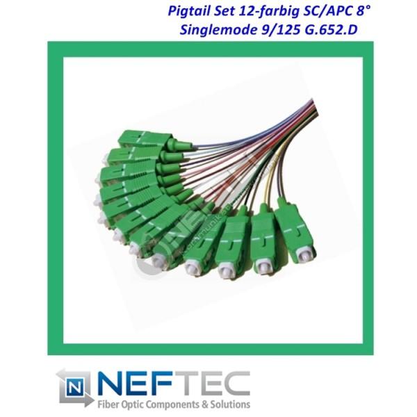 SC APC Pigtail Satz 12-farbig Singlemode