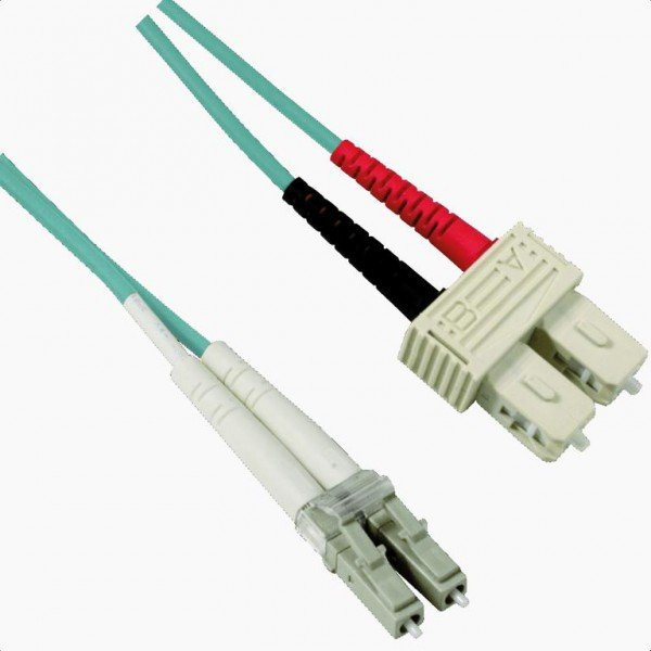 LC-SC OM3 Multimode Duplex Patchkabel