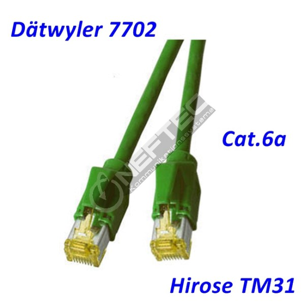 Cat.6a Patchkabel Dätwyler 7702 grün Hirose TM31