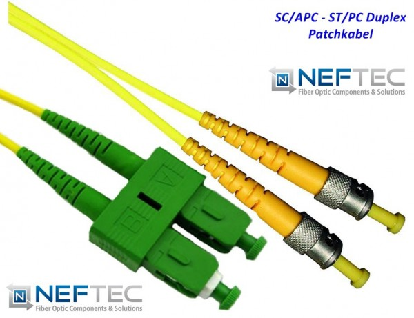 SC APC - ST Duplex Patchkabel Singlemode