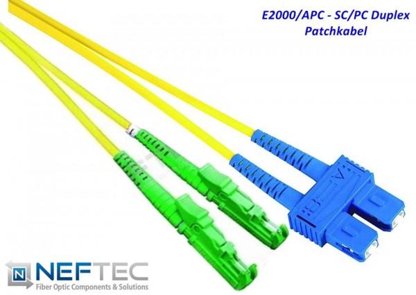 E2000 APC - SC Duplex Patchkabel Singlemode