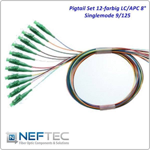 LC APC Pigtail Satz 12-farbig Singlemode